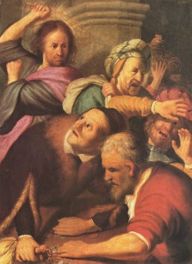 Jesus-drives-out-moneychangers-by-Rembrandt